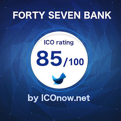 FORTY SEVEN BANK ICO rating and analysis